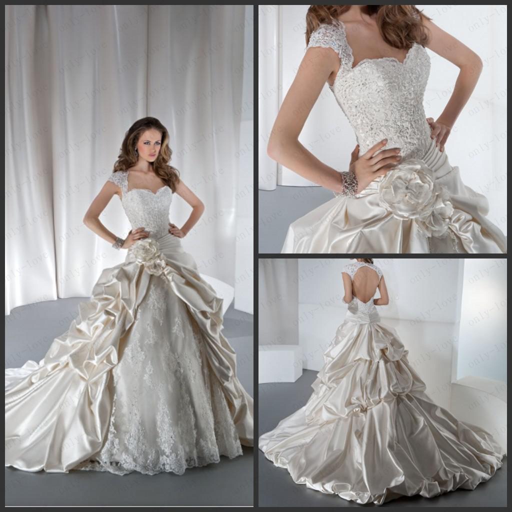 Discount vintage a line wedding dresses off shoulder for Hand beaded wedding dresses