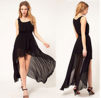 Strapless asymetric dress - 2013 new arrival Women s love chiffon dress with asymetric style for manufacturer and retail