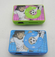 Wholesale Football Cartoon Flower Card Reader MP3 Player Mini Clip MP3 With TF Micro SD Card Slot Support Max GB Post