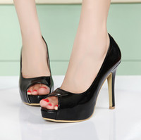 Wholesale High Heel Women s PU Peep Toes Sandal Shoes Stiletto Lady s Dress Shoe Colors Option L