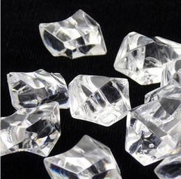100шт / много ясно свадьбы пользу партии украшение Акриловые лед Рок алмазы стол разброс конфетти Цветочные Организация вазу наполнитель WI001DS