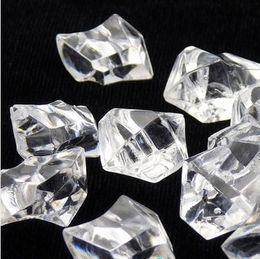 100pcs / lot décoration faveur de mariage clairement partie Acrylique Rock glace diamants tableau des batailles de confettis Floral Vase Arranger WI001DS de remplissage