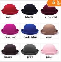 Wholesale Vintage Fashion Wool Women s Cute Lady Hat Trendy Bowler Derby Hat Men s Cloche