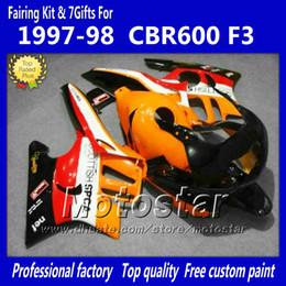 Customize Fairing kit for HONDA CBR600 F3 97 98 CBR 600 F3 1997 1998 CBR 600F3 97 98 orange black custom fairings