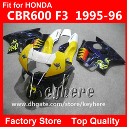 Free 7 gifts ABS Plastic fairing kit for Honda CBR 600 95 96 CBR600 1995 1996 F3 fairings G3C high grade yellow blue white motorcycle parts