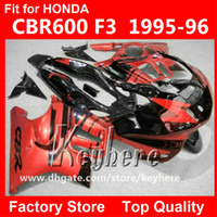 Wholesale Free gifts custom race fairing kit for Honda CBR CBR600 F3 fairings G5d hot sale red black motorcycle body work