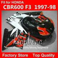 Wholesale Free gifts ABS Plastic fairing kit for Honda CBR CBR600 F3 fairings G2C white high grade red black motorcycle parts