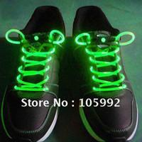 Wholesale LED Flashing shoelace light up shoe laces Laser Shoelaces fashion gifts change colors PAIRS