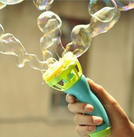 Wholesale Hot ELC Electric bubble gun with bubble water hand held bubble blower Early Learning Toy