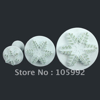 Wholesale 3pcs Snow Cake Decoration Mold Cake Decoration cake print mold