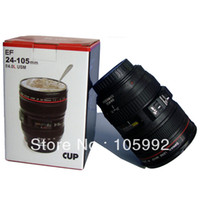 Wholesale Coffee camera lens mug cup Caniam logo Drop shipping