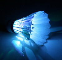 Wholesale Brand New LED luminous light shine badminton shuttlecock