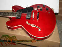 Wholesale Custom Shop Classic RED Semi Hollow ES jazz Electric Guitar new arrival OEM Chinese guitar