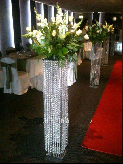 White Pillars Stands Flowers For Weddings Floor Standing