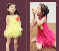 Wholesale New Arrive Girls sleeveless princess wears Kids clothes children gauze Dress