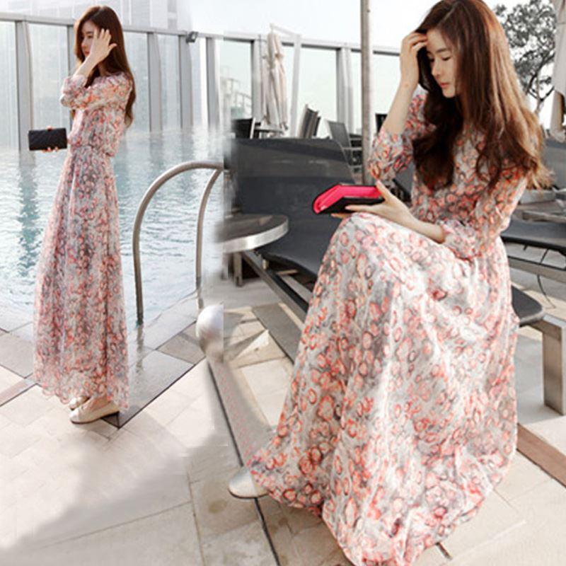 Trendy and stylish dresses: Long dresses korean