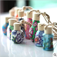 Wholesale Beautiful ceramic rope hanging bottle perfume bottles Oriental gifts can hang on the car rearview mirror