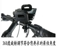Wholesale Bicycle Phone Holder navigator mountain bike frame bicycle Iphone holder Can Be Rotated Degrees By EMS