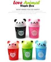 Wholesale MINI Animals Debris Bucket Cartoon Desktop Storage Barrels Desktop Trash Holder Waste Box