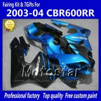 Wholesale 7 Gifts fairings body kit for HONDA CBR600RR F5 CBR RR CBR600 RR blue black fairing set kk9