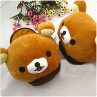 Wholesale Rilakkuma Bear Pineapple Bread Plush Home Slipper Shoes Rilakkuma Bear Slipper San X bear slippers