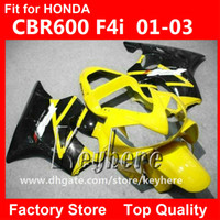 Wholesale Free gifts Custom race fairing kit for Honda CBR600 CBR F4I fairings G2e yellow black motorcycle body work