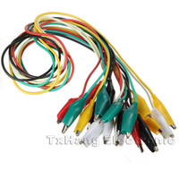 Wholesale Color cm Double ended Crocodile Clips Cable Alligator Jumper Wire Test Leads