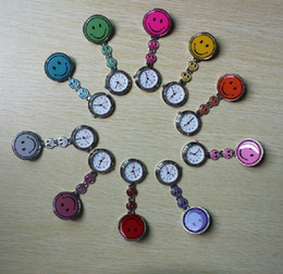New Arrival 100 cute quartz watch three smiling faces nurse watchs pocket watch wholesale Free Shipping