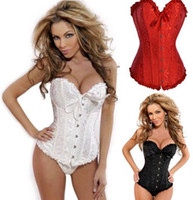 Wholesale 5XL XL Steel Boned Corset Women Embroidery White Bridal Bustiers Plus Size Hot Shaper Body Skeleton Underwear Sexy Female Corselet