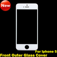 Best Front Outer Glass Screen Replacement digitizer Cover for iPhone 5 Front Glass Lens Repair Part Touch Screen Cover for iphone 5 High Quality