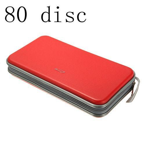 CD DVD Portable Wallet Storage Organizer Holder Case Bag Album Box Red