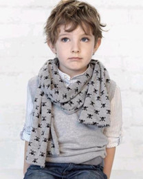 Wholesale Kids Baby Scarves Double Skull Scarves Shawl Printing Design Scarves Neckchief Ropes