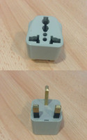 Wholesale Free DHL PIN UNIVERSAL TO UK PLUG TRAVEL ADAPTOR AU US USA AUS EU TO UK NEW