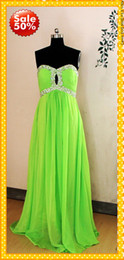 Wholesale 2013 Fashion in Stock Real Sample US2 Sweethert Chiffon Crystal Sequins beaded Ruffles Cheap Prom Evening Formal Dresses Dress Gowns