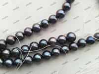 Wholesale 8 mm Black Freshwater Pearl Loose Beads Fine Jewelry Black Freshwater Pearl Loose Accessories For Necklace Bracelet