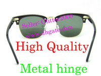Wholesale High Quanlity Metal hinge clubmaster Plank black Sunglasses black sun glasses club masters Sunglasses mens sunglasses womens glasses
