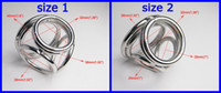 Wholesale 2013 NEW STYLE Holes Male Delay Toys Steel Chastity Cock Rings Two Size Can Chose Metal FETISH Delayed Ejaculating Ring