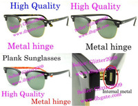 Wholesale Free EMS High Quanlity glasses Metal hinge Plank glasses unisex sunglasses mens black sunglasses womens sun glasses glitter2009