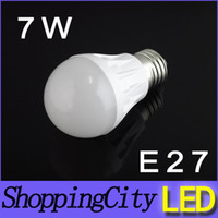 7W AC85- 265V E27 B22 led lamps bulb warm white bulbs SMD2936...