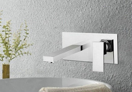 Wholesale Bathroom Sink Basin Faucet Wall Mounted Waterfall Mixer Tap DH