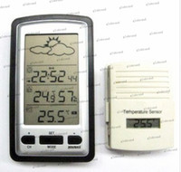 Industrial other  GHJB516 15pcs lot Wireless Weather Station Temperature Humidity with Sensor 100M Clock