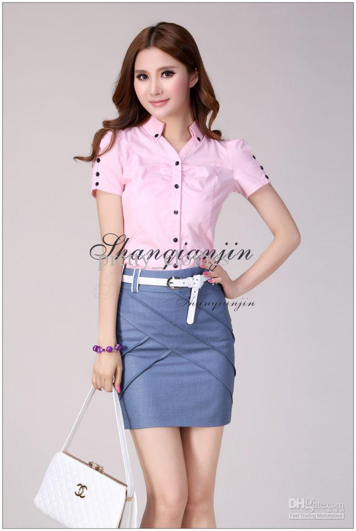Cheap Women Suits Ladies Work Dresses Jeans Skirt with Cross Line