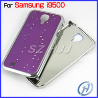 Wholesale Chrome Hard Back Cases Bling Bling Crystal Mirror Mobile Phone Cover for Samsung Galaxy S4 SIV i9500