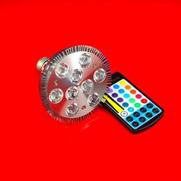 Wholesale RGB 18W Dimmable Par30 Bulb Light Par 38 E27 9X2W LED Spotlight 10pcs lot