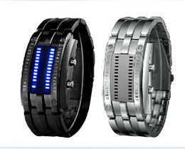 Wholesale 2013 luxury Fashion Unique Japanese STORM MK1 MK2 CIRCUIT LED Watch Slate All Metal Warranty