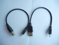 Wholesale 23cm Length MP3 MP4 Mini USB Cable Data Sync Function Charge Cable Post