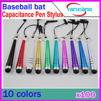 Wholesale DHL Baseball Bat Design Capacitive Stylus Pen Touch Screen Pen For Capacitance Screen Phone RW L11