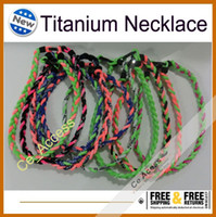 Wholesale 3 Rope Nylon Titanium Sports Necklace for Girls Neon Bright Color