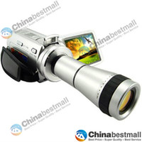 Wholesale 5 Mega Pixel Camcorders DV T digital vide Camera with Telescope Zoom Lens digital camcorder DV DVC PC