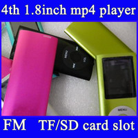 Wholesale 1 inch mp4 player support TF card micro sd card colors with FM radio mp4 mp3 player headphone cable box